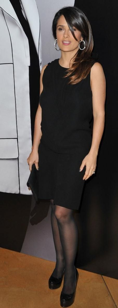 Salma Hayek attends the Hogan by Karl Lagerfeld Ready-To-Wear presentation and cocktail party