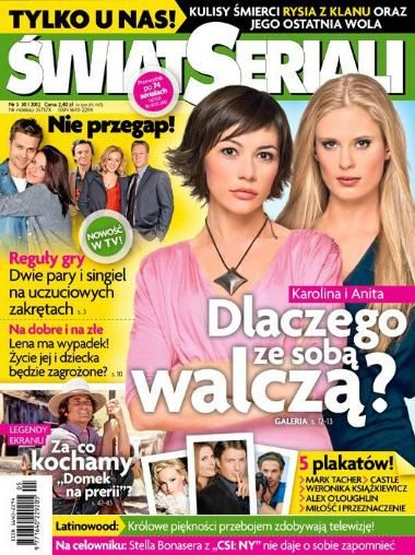 Julia Pietrucha - Swiat Seriali Magazine Cover [Poland] (30 January 2012)
