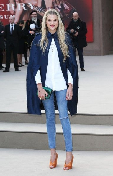 Gabriella Wilde Celebrities at Burberry Prorsum 2013 Fashion Show at London Fashion Week