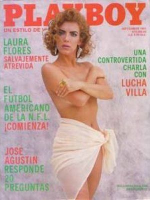Laura Flores - Playboy Magazine Cover [Mexico] (September 1991)