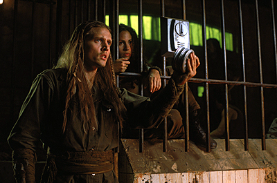 Battlefield Earth: A Saga of the Year 3000 Barry Pepper and Sabine Karsenti in Warner Brothers' Battlefield Earth - 2000