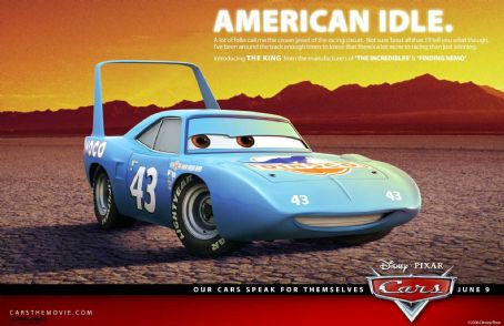 Richard Petty The King (voiced by ) in Buena Vista Pictures Distribution's Cars - 2006