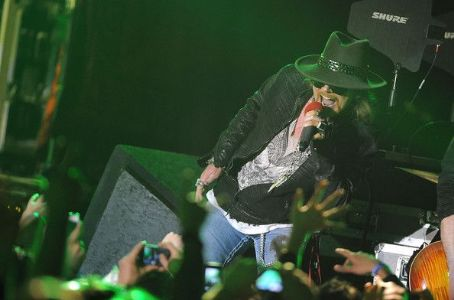 W. Axl Rose - Singer Axl Rose of Guns N' Roses performs at the Hollywood Palladium on March 9, 2012 in Hollywood, California