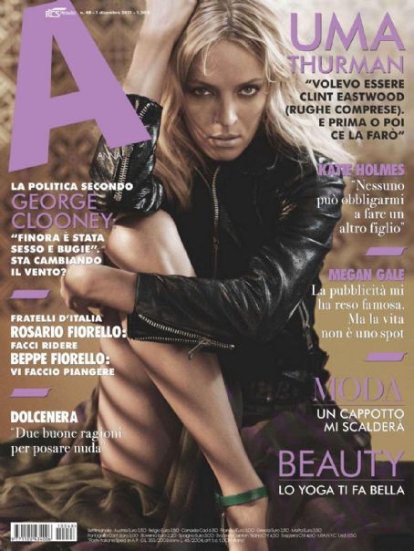 Uma Thurman - A Magazine Cover [Italy] (1 December 2011)