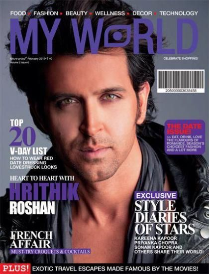 Hrithik Roshan - My World Magazine Pictorial [India] (February 2012)