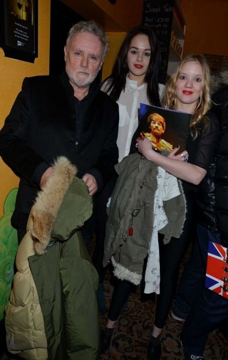 "Lola Taylor Roger Taylor and daughter Lola, with a friend at the ""Let It Be"" Gala Night at the Savoy Theatre in London, Feb. 13 2013"