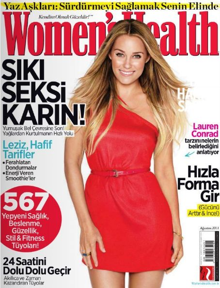 Lauren Conrad - Women's Health Magazine Cover [Turkey] (August 2011)