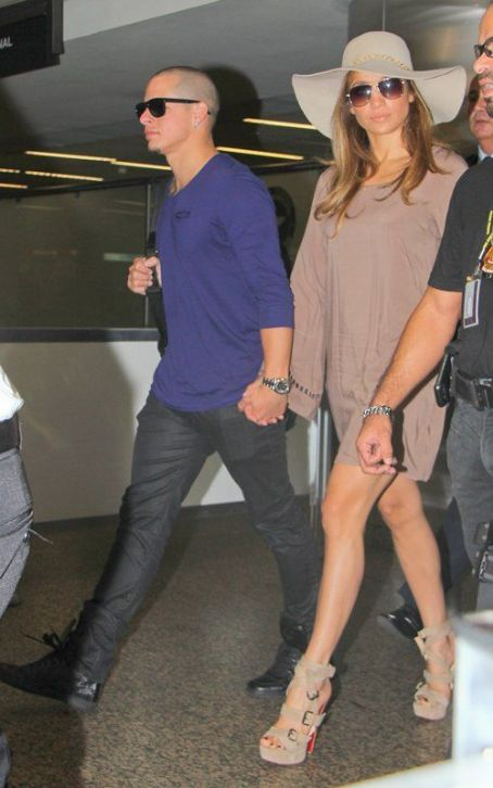Jennifer Lopez & Casper Smart Touch Down in Sao Paulo