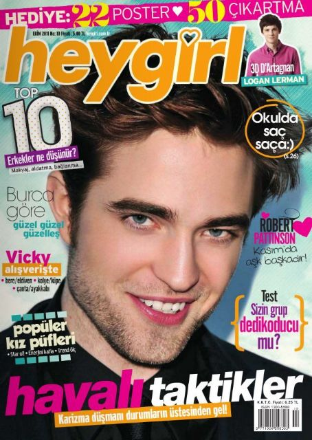 Robert Pattinson - Hey Girl Magazine Cover [Turkey] (October 2011)