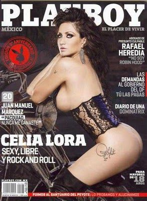 Celia Lora - Playboy Magazine Cover [Mexico] (October 2011)