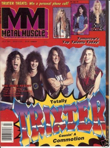P.J. Farley, Pete Loran, Steve Brown - Metal Muscle Magazine Cover [United States] (July 1991)