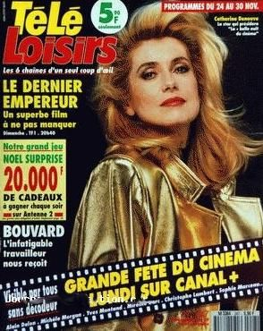 Catherine Deneuve - Tele Loisirs Magazine [France] (19 November 1990)