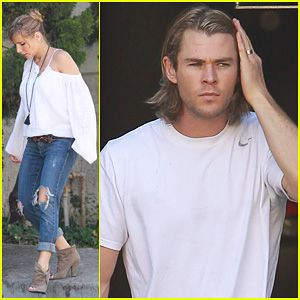 Chris Hemsworth & Elsa Pataky: Garbage Day!