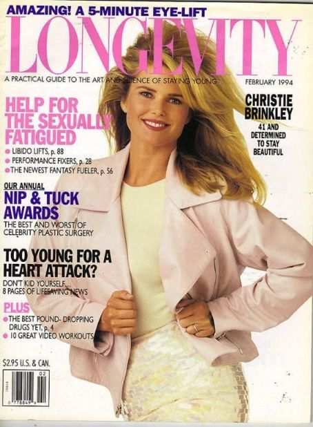 Christie Brinkley - Longevity Magazine Cover [United States] (February 1994)