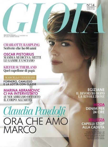 Claudia Pandolfi - Gioia Magazine Cover [Italy] (7 April 2012)