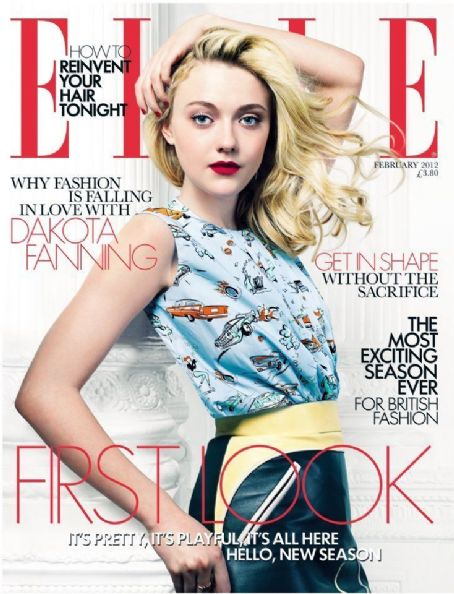 Dakota Fanning - Elle Magazine Cover [United Kingdom] (February 2012)