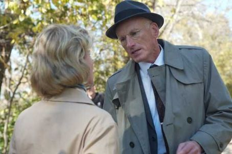 James Rebhorn Gretchen Mol as Catherine Caswell with  as Lucian Carver in An American Affair.