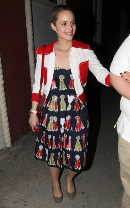 Dianna Agron's Stylish Troubadour Night Out