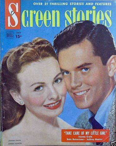 Jeffrey Hunter - Screen Stories Magazine [United States] (July 1951)