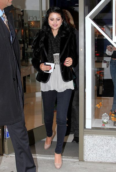 April 11, 2012. Selena Gomez spends the day shopping in Madison Avenue in New York City