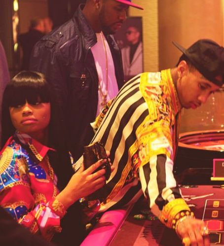 Blac Chyna Tyga and  at the Casino