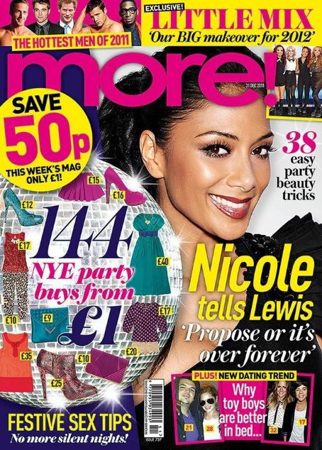 Nicole Scherzinger - More! Magazine Cover [United Kingdom] (28 December 2011)