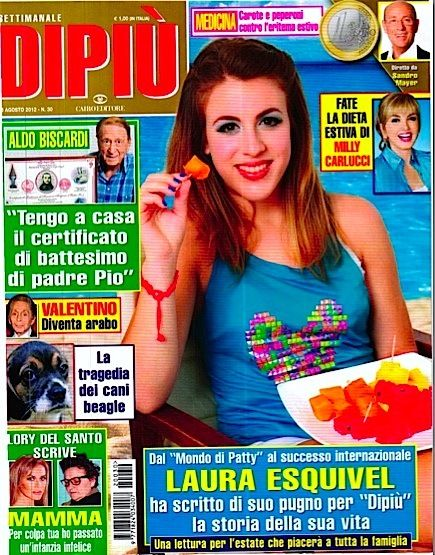 Laura Esquivel - Di Pi� TV Magazine Cover [Italy] (6 August 2012)