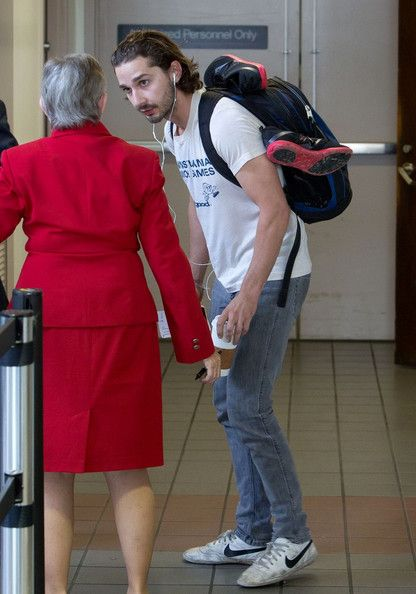 Shia LaBeouf was spotted arriving for a flight at Los Angeles International Airport this afternoon, May 6, in Los Angeles