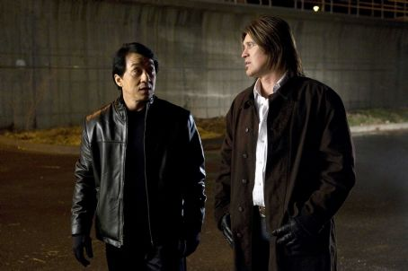 The Spy Next Door Jackie Chan (as Bob Ho, left) and Billy Ray Cyrus (as Colton James, right) star in THE SPY NEXT DOOR. Photo credit: Colleen Hayes