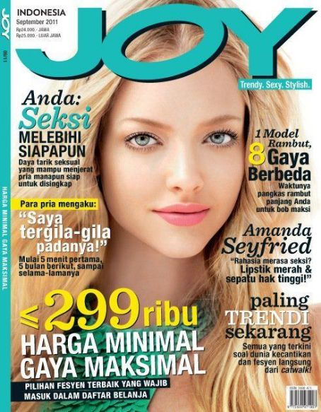 Amanda Seyfried - Joy Magazine Cover [Indonesia] (September 2011)