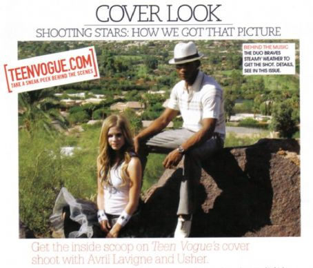 Usher Raymond - Avril Lavigne - Teen Vogue Magazine Pictorial [United States] (November 2004)