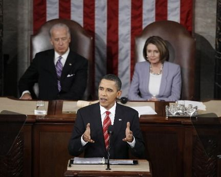 Joe Liden & Nancy Pelosi At President Barack Obama's State Of The Union Speech 2009