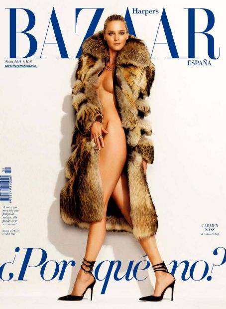 Carmen Kass Harper's Bazaar Spain January 2013