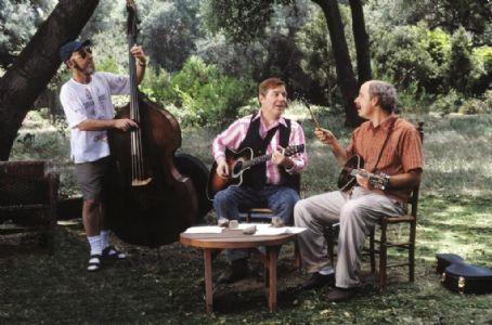 (L-r) Harry Shearer, Michael McKean and Christopher Guest in Castle Rock Entertainments documentary-style comedy 'A Mighty Wind,' distributed by Warner Bros. Pictures.