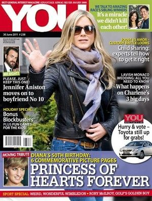 Jennifer Aniston - You Magazine Cover [South Africa] (30 June 2011)