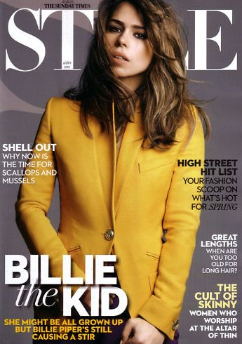 Billie Piper - The Sunday Times:- Style Magazine Cover [United Kingdom] (23 January 2011)