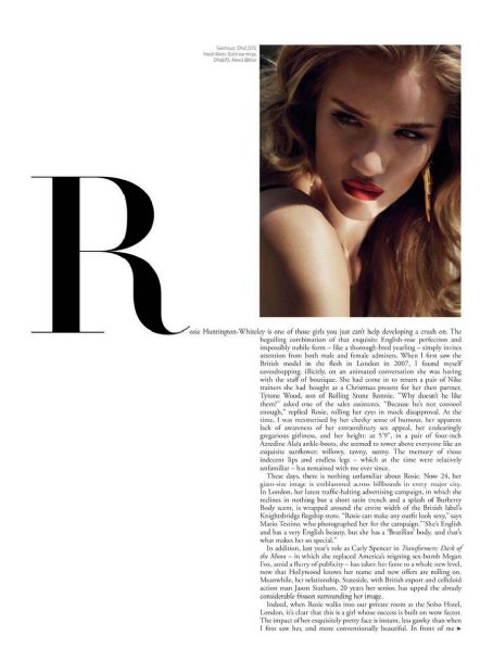 Tom Munro - Rosie Huntington-Whiteley Harper's Bazaar Arabia April 2012