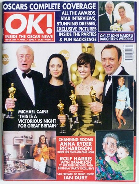 Michael Caine - OK! Magazine Cover [United Kingdom] (7 April 2000)