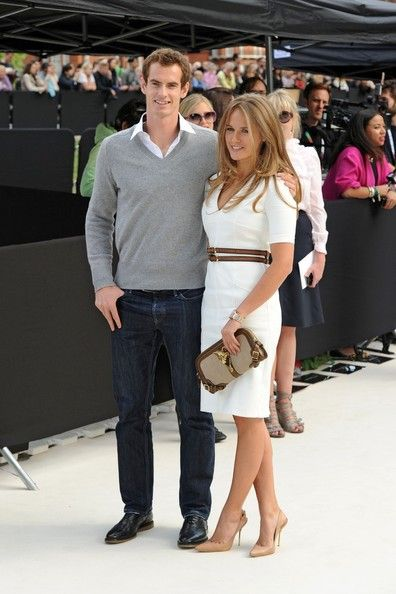 Andy Murray and Kim Sears at the Burberry Show