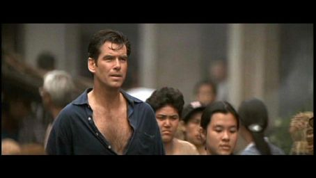 Pierce Brosnan in a scene from Tomorrow Never Dies - 1997.