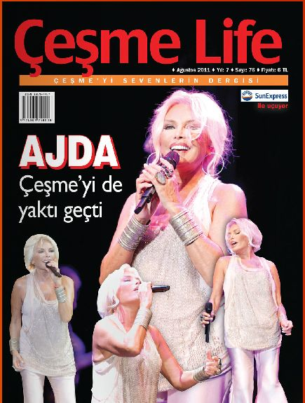 Ajda Pekkan - Çesme Life Magazine Cover [Turkey] (August 2011)