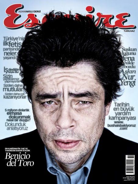 Benicio Del Toro - Esquire Magazine Cover [Turkey] (January 2009)