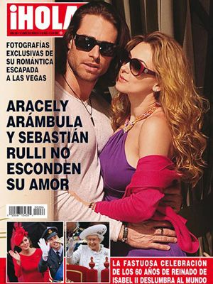 Sebastian Rulli & Aracely Arambula on Hola Cover