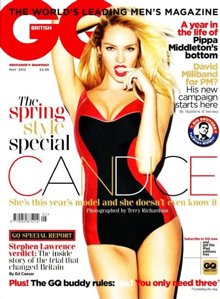 Candice Swanepoel - GQ Magazine Cover [United Kingdom] (May 2012)
