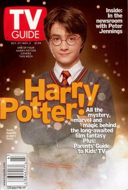 Daniel Radcliffe - TV Guide Magazine [United States] (27 October 2001)