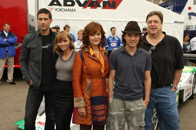 John Goodman - Speed Racer Cast Photo with the Yokohama Race Car