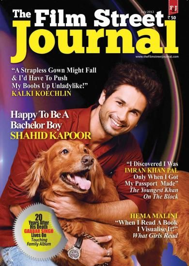 Shahid Kapoor - The Film Street Journal Magazine Pictorial [India] (July 2012)