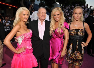 "Hugh Hefner and Kendra Wilkinson - Sony Pictures Presents the Premiere of ""The House Bunny"""