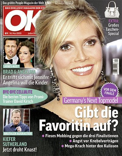 Angelina Jolie, Brad Pitt, Heidi Klum - OK! Magazine Cover [Germany] (14 May 2009)