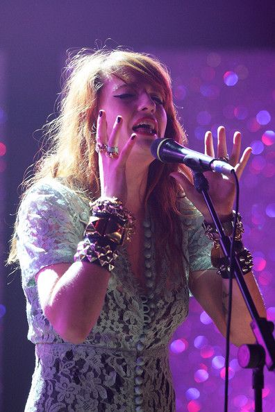Florence Welch , of Florence & The Machine, performs at the announcement for the shortlist of Brit Award nominations held at the Camden Roundhouse, Chalk Farm on January 20, 2009 in London, England.